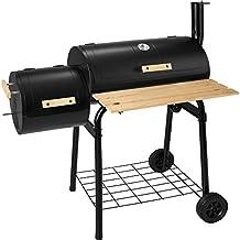 TecTake Barbacoa Barbecue Grill con Carbón Vegetal Parrilla Fumador BBQ Madera