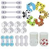 Lenbest 48 Pcs Kits Sécurité de Bébé enfants, 8 Protège Coin, 24 cache...