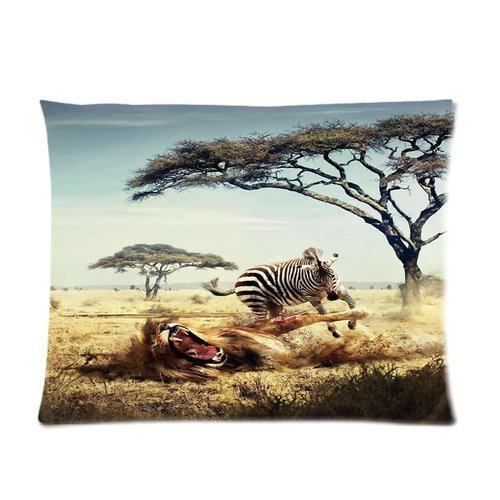 creative-soft-comfortable-zippered-pillow-cases-food-chain-reversal-giraffe-lion-war-pillow-case-siz