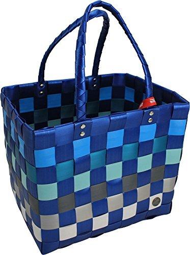 Shopper Ice-Bag Einkaufskorb Witzgall, perfekte Einkaufstasche für Ihren Einkauf, Fb. blau, grau, Mod. 5010, 37cm (inkl. Henkel) x 28 x 24cm (Brot-taschen Aus Kunststoff)