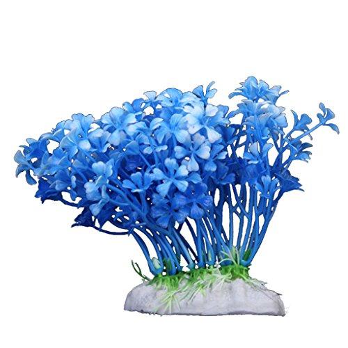 12cm Kunststoff Aquarium Pflanzen Zierde Für Aquarium - Blue
