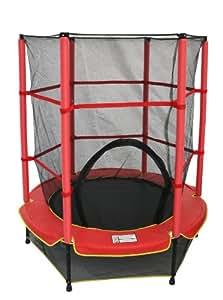 ideale 68235 kindertrampolin mit netz rot schwarz 1 40 m sport freizeit. Black Bedroom Furniture Sets. Home Design Ideas
