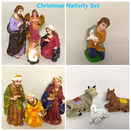 M-Tech Gardens Polymarble Nativity Crib for X'Mas Decoration, Standard Size,...