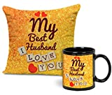 #8: TiedRibbons Anniversary | Birthday Gift for Husband Cushion (12 inch x 12 inch) with Filler and Coffee Mug(325ml)