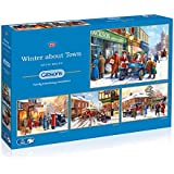 Gibsons  Winter about Town Jigsaw Puzzle (4 x 500-Piece)