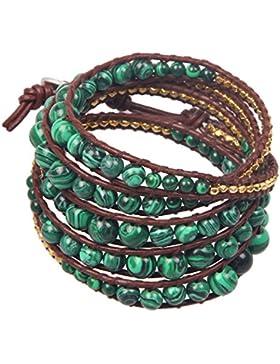 KELITCH Kristall Grau Perle Mix Perlen 5 Wicklen Armband Handmade Armreifen Armband Mode Schmuck
