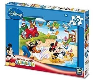 Disney Mickey & Goofy Childrens 50 Piece Jigsaw Puzzle At The Beach
