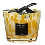 Baobab MAX10PY Pearls Citrine Kerze, Kerzenwachs, 10 x 7 x 10 cm