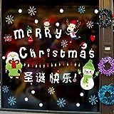 578df7016 Marca de Navidad Etiqueta de La Pared Decorativa Pvc Extraíble de Dibujos  Animados Kawai Etiqueta de