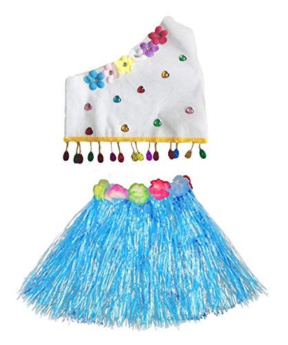 Kostüm Regen Tanz - Fortuning's JDS Eco Freundliche Oberteile Hawaiian Gras Rock Modenschau Kostüm Set für Mädchen