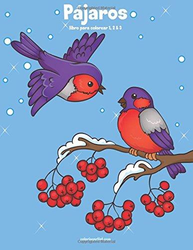 Pájaros libro para colorear 1, 2 & 3