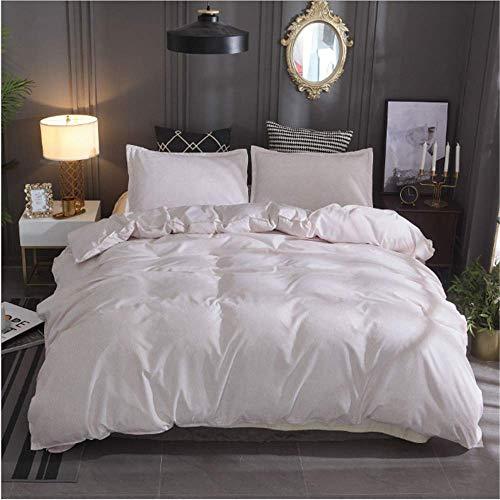 SHJIA Einfarbig Bettwäsche Set Bettbezug Set Kissenbezüge Baumwolle Tröster Bettwäsche Sets Bettwäsche D 200x200cm -