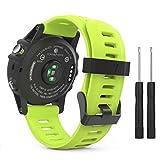 MoKo Armband für Garmin Fenix 3 / Fenix 5x Sport Watch - Silikon Sportarmband Uhr Band Strap Ersatzarmband Uhrenarmband mit Werkzeug für Garmin Fenix 3 / Fenix 3 HR GPS Smart Watch, Grün