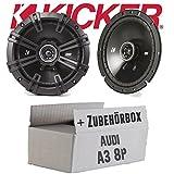 Audi A3 8P - Kicker DSC 670   16cm Koax Lautsprecher - Einbauset