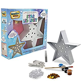 KreativeKraft Star Led Light Kit Bedroom Accessories Home Decoration Free Standing Lamp Star Night Lights Art and Crafts DIY