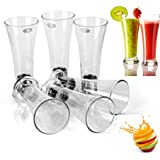 Classvilla Unbreakable 350 Ml Transparent Glass Tumbler Set of 6 ABS Poly Carbonate Plastic (2 Years Guarantee)