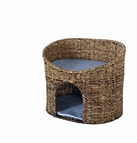 Preisvergleich Produktbild Katzenhöhle Korb mit Kissen geeignet für kleine Katzen