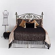 Scroll Shabby Chic cabecero de cama adhesivo decorativo para pared vinilo adhesivo para pared cama pared dâ ¨ Â ¦ cor (marrón oscuro, Full) por mairgwall