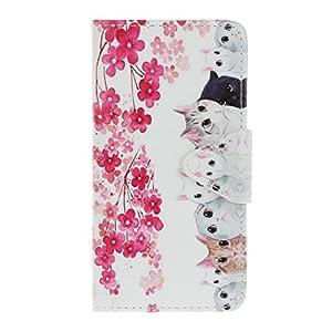 Honor 5C Hülle,Honor 5C Case, Honor 5C Tasche Cozy Hut Handy Tasche Schutz Hülle im Bookstyle für Huawei Honor 5C Wallet Case mit Standfunktion Schutzhülle mit Standfunktion Kartenfächer mit Weich TPU Innere Hülle Case
