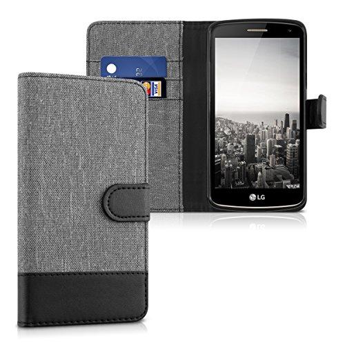 kwmobile LG K5 Hülle - Kunstleder Wallet Case für LG K5 mit Kartenfächern und Stand