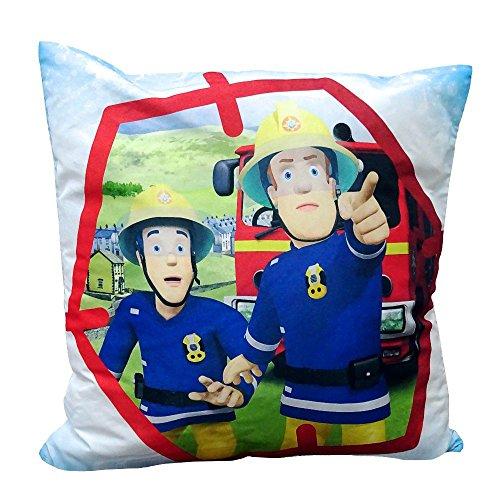 Feuerwehrmann Sam - Kissen Kinder Dekokissen Kuschelkissen Elvis 40x40cm