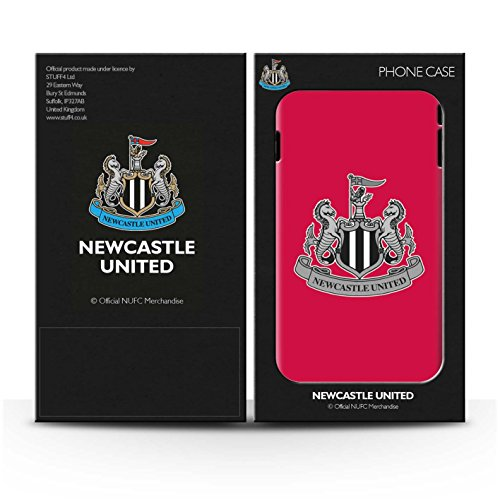 Offiziell Newcastle United FC Hülle / Matte Snap-On Case für Apple iPhone 7 Plus / Farbe/Gold Muster / NUFC Fußball Crest Kollektion Mono/Rot