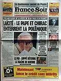 FRANCE SOIR [No 16212] du 20/09/1996 - LE DOULOUREUX SECRET DE PAPIN - JEAN-PAUL II...