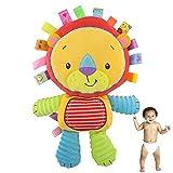 1pc bébé Doux en Peluche Cartoon Animaux en Peluche hochet Jouets avec Bells intégrés pour bébé et Cadeaux pour Enfants (Lion)