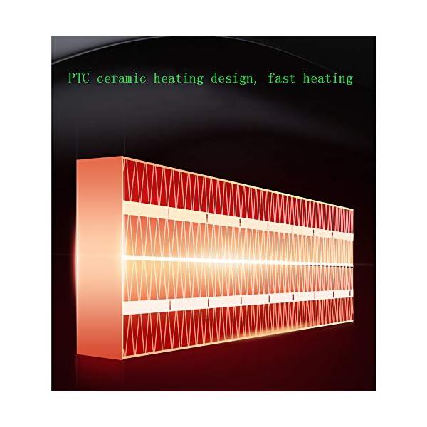 Calentador De Ventilador DoméStico PequeñO Radiador Vertical CalefaccióN De CeráMica Cabezal Agitador AutomáTico Amplia Gama De Suministro De Aire