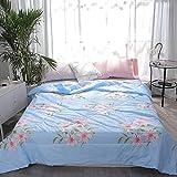 GGsmd Summer Quilt Printing Sommer Kühl Ist Waschechte Kinder Haut Sommer Ist 150 * 200Cm Lily Blue Sommerdecke