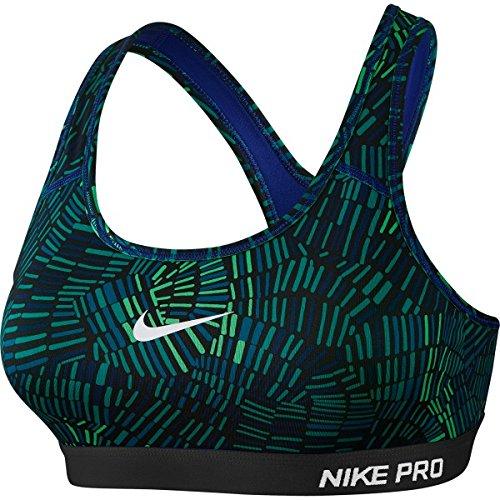 Nike Pro Clsc Tidl Bra Pad Mlt-soutien-gorge femme Azul / Verde / Negro / Blanco (Deep Royal Blue/Spring Leaf/Black/White)