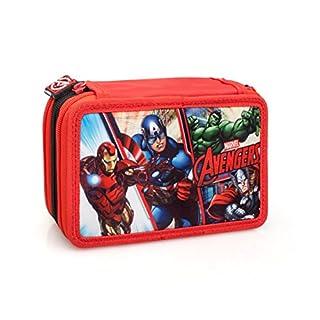 The Avengers 63224 Triple Tier Filled Pencil Case, Contents 44 Pieces