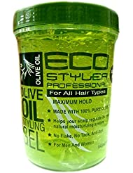 Eco Styler Olive Oil Gel coiffant – Cheveux Gel 946 ml