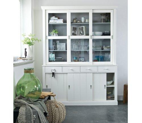 WOOOD Buffetschrank Weiß mit 6 Türen und 4 Schubladen Lagos 373400-GOW