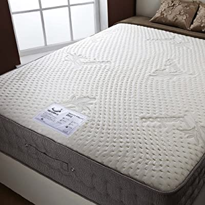 Happy Beds Natural Bamboo 2000 Memory Foam Pocket Sprung Mattress Bedroom Sleep - cheap UK light shop.