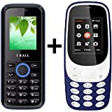 I KALL K3310 (Blue) Special Gift Combo With K18 (Blue) Basic Feature Mobile Phone