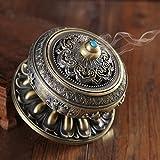 SINOBAND Metal de aleación de quemador de incienso de flor de loto Buda quemador de incienso soporte portavelas censer- budista decoración, decoración del hogar.