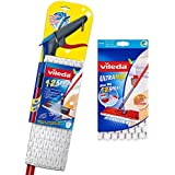 Vileda 1 - 2 Spray Microfibre Flat Spray Mop with Extra Microfibre Refill