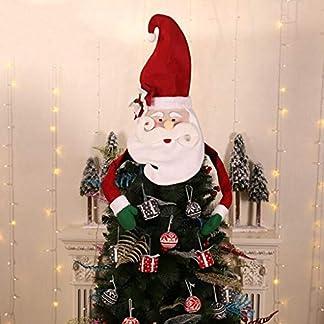 VNEIRW-Weihnachtsbaumspitze-Weihnachtsmann-Schneemannhut-Dekoration-DIY-kreative-Weihnachtsbaumspitze-Weihnachtsmann-Schneemannhut-Baumspitze-Dekoration-Weihnachtsbaum-Hngende-Verzierungen