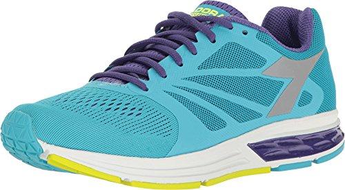 Diadora Scarpa Running Sneaker Jogging Donna Kuruka W FL Cyan bl/Heliotrope/SIL (41)