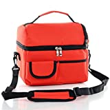 Vkatech 8L Nevera Acampada bolsa de almuerzo con aislamiento correa para el hombro(rojo)