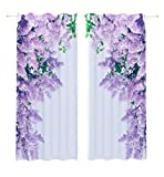 Lemare Vorhang Blickdicht Digitaldruck Magische Flieder 2X 145x260 cm