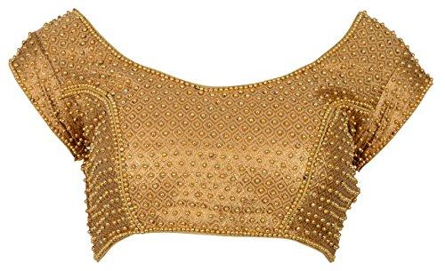 Nishtha Creation Women'S Brocade Saree Blouse (Ba0019--34_Gold_34)
