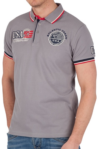 Ultrasport Fort Lauderdale Collection Herren Poloshirt Miami Grau