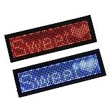 D DOLITY 2 Pcs Lampadine Luce LED Programmabile Scrolling Bar Numero Illimitato Messaggi Portatile ABS Rosso Blu