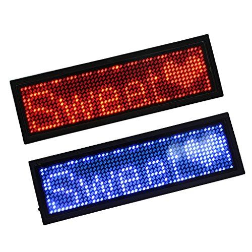 Dolity 2 piezas de letrero iluminado con luz LED que muestra Nombre de Placa...
