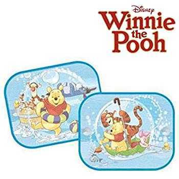 Disney Winnnie Foldable Pair of Car Side Window Sunshade Auto Static Cling Sun Shades Protector Easy Use