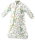 Missfly Baby Schlafsack mit abnehmbaren Ärmeln Winter Angedickte (M/Körpergröße 75-85cm, Dinosaurier Park)