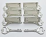 40Stück Multi-Funktion Silber Schlüssel geformte Flaschenöffner und Ort Kartenhalter Hochzeit