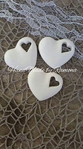 24 pz Gessetti profumati cuore,segnaposto matrimonio,compleanno,nozze